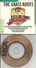 THE GRASS ROOTS Vintage gold 4TRX RARE 3 INCH CD single LIMITD 1989 MCAD 37293