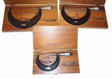 Starrett Micrometers Set Of 3 436m 50 To 75mm 100 To 125mm 125 To 150mm