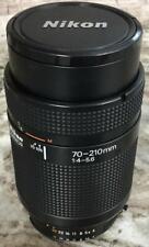 Nikon AF Nikkor 70-210mm F4S Lens Zoom Telephoto F4-5.6 JAPAN