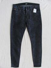 Hudson Nico Super Skinny Jeans -Ambush Snakeskin-Coated Blue/Black-Size 29 - NWT