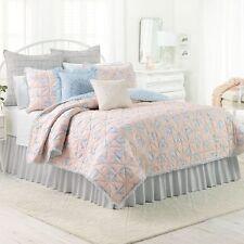 New Lauren Conrad Lc Blush Darby Rose Quilt Comforter Twin / Xl 100% Cotton