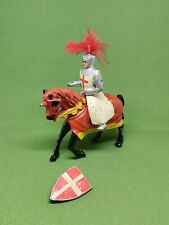 Vintage Made in England Lead Knight on Horseback Figure