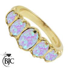 Anelli di lusso con gemme naturale ovale opale
