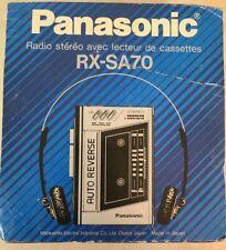 Vintage 80's Panasonic Rx Sa70 Radio Cassette Walkman Nib With Headphones