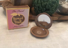 Too Faced Bronzed Peach Melting Powder Bronzer Full size NIB AUTHENTIC!