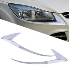 ABS Chrome Head Light Trim Eyelid for Ford Escape Kuga 2013 2014 2015 2016