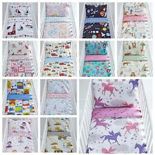 90cm x 120cm Reversible Cot Duvet Quilt Cover & Matching Pillowcase Bedding Sets