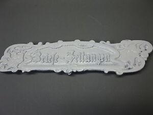 Letter Slot Cast Iron 27 CM X 6 CM Vintage Antique Style White