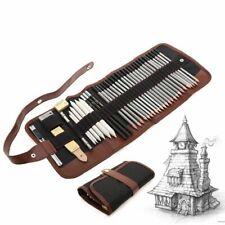 Sketch Pencil Set Professional Sketching Drawing Kit Wood Pencil Bags 27/39pcs
