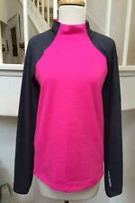 Under Armour Cold Gear Dk. Gray & Bright Pink Turtleneck Pullover Top Youth XL