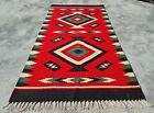 Authentic Hand Knotted Vintage Turkish Wool Kilim Kilm Area Rug 5 x 2 Ft