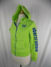 Abercrombie Kids Youth Lime Green Full Zip Jacket Size XL Cotton Poly Muscle