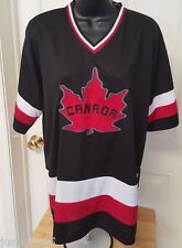 Mens Womens Black Red White Canada Jersey Style Shirt Top Size XL