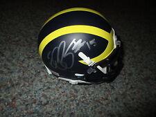 Michigan Wolverines ELVIS GRBAC signed Mini Helmet PROOF