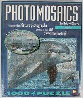 "BGI Robert Silvers Photomosaics Puzzle Dolphin 1000 Piece 27"" x 20"" NEW NIB"