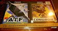 Jane's Longbow Flight Combat Simulation And ATF advanced Tactical Fighters New