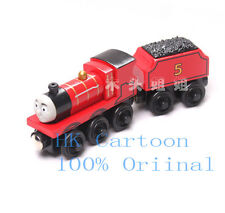 LOOSE LEARNING THOMAS WOODEN MAGNETIC TRAIN- JAMES + TENDER COMBINE W/ CHUGG