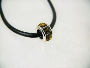 Bernstein Beads 14mm 925 Silber Farbe Grün Damen Amber BBS102-G