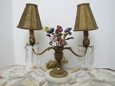 Antique French Victorian Style Mantel / Hallway Table Lamp