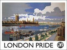 London Pride GWR-Viaggio UK Inghilterra PARLAMENTO Thames Tin Targa Metallo Segno 380
