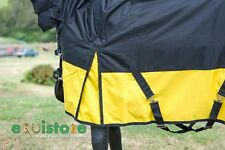 """winter turn out rug combo, black and yellow with QS Logo 6'9"""""""