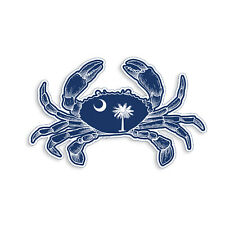 South Carolina Crab SC Flag Sticker Beach Sea Cup Cooler Car Window Bumper Decal