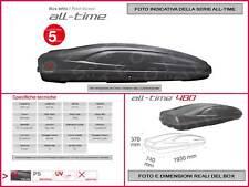 BOX BAULE TETTO AUTO 390LT E BARRE PORTAPACCHI MITSUBISHI OUTLANDER 07>11 041769