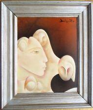 Charles Delporte, olie op paneel, Pensée Florale, ingelijst 42 x 36
