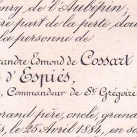Alexandre Edmond De Cossart D'Espies Paris 1884