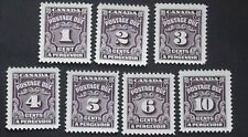 CANADA STAMP POST DUE D18-24 M.N.H.