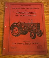 Massey Harris Instructions For Care Amp Operation 55 55k Tractors 7 12m 10 50 S