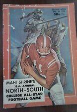 Vintage NCAA 1963 North Vs South Shrine's All Star Football Program RARE