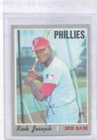 Rick Joseph 1970 Topps #186 Autographed Baseball Card Philadelphia Phillies