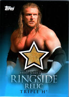 WWE Triple H 2009 Topps Ringside Relic Event Worn Shirt Card Yellow & White