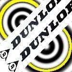 "DUNLOP BLACK 23"" LONG stickers decals large for trailer sponsor racing tires car"