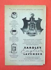D228 - Advertising Pubblicità - 1953 - YARDLEY LAVANDA DI ESSENZE DI ROSA