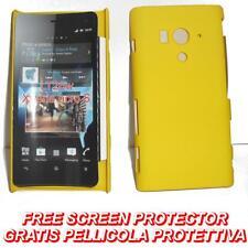 Pellicola+custodia BACK COVER rigida GIALLA per Sony Xperia acro S LT26W