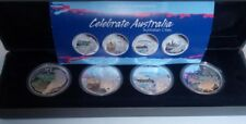 Celebrate  Australia  4 x 1 oz Silver  2010  Cities koala turtle penguin parrot