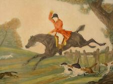 Gravure Couleur La Chasse au Renard d'après Carle Vernet (1758-1836) Debucourt