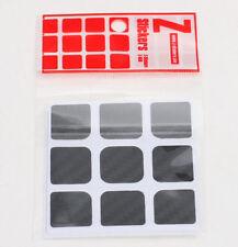 Z-Cube 3x3 Magic Cube Carbon fiber stickers Black