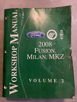 2008 Ford Fusion Milan MKZ Service Repair Manual OEM Factory Workshop Vol 2