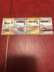 Nevis stamps 1986 MHM Leaders of the World - Railway Locomotives