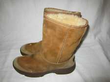 Ugg Australia Ultimate Short 5275 WOM 8 Brown Suede Warm Fuzzy Cold Winter Boots