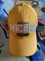 Adidas NBA Yellow Indiana Pacers 1967 Adjustable Cap Hat Stick Strap