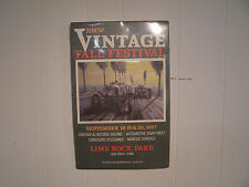 BMW 1987 Vintage Fall sFestival Lime Rock Park unframed Promotional Poster 17x11