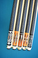 LOT OF 5 CUES New 58'' Billiards Canadian Maple Pool Cue Stick PLUS SHIPPING #04