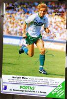 SV Werder Bremen + Handsignierte Autogrammkarte + Norbert Meier /4