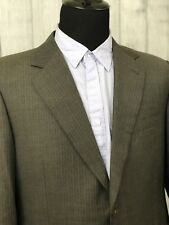 CANALI Brown Pinstriped 44R 2-Button Double Vent Sports Coat / Suit Jacket