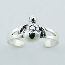 Toe Ring turtle hallmarked 925 new 925 Solid Genuine Sterling Silver Adjustable