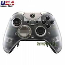 Custom Clear Cover Faceplates Front Housing Shell for Xbox One Elite Controller
